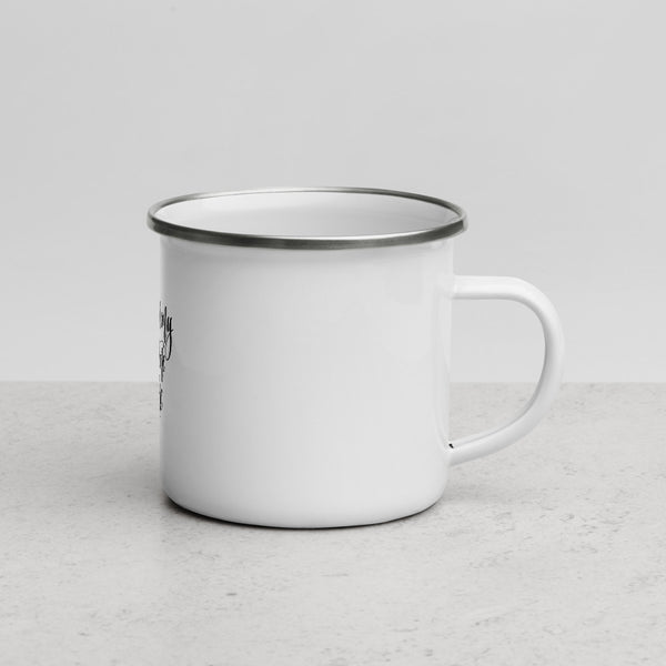Clique + Clique Collection Enamel Mug Coffee is My Daytime Wine