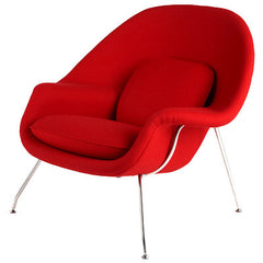 Wombat Chair - Saarinen Inspired red