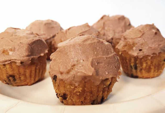 Chocolate & Pumpkin Spice Cupcake