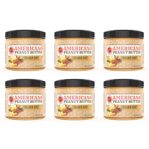 6 Pack Cinnamon Honey Peanut Butter (6lbs)
