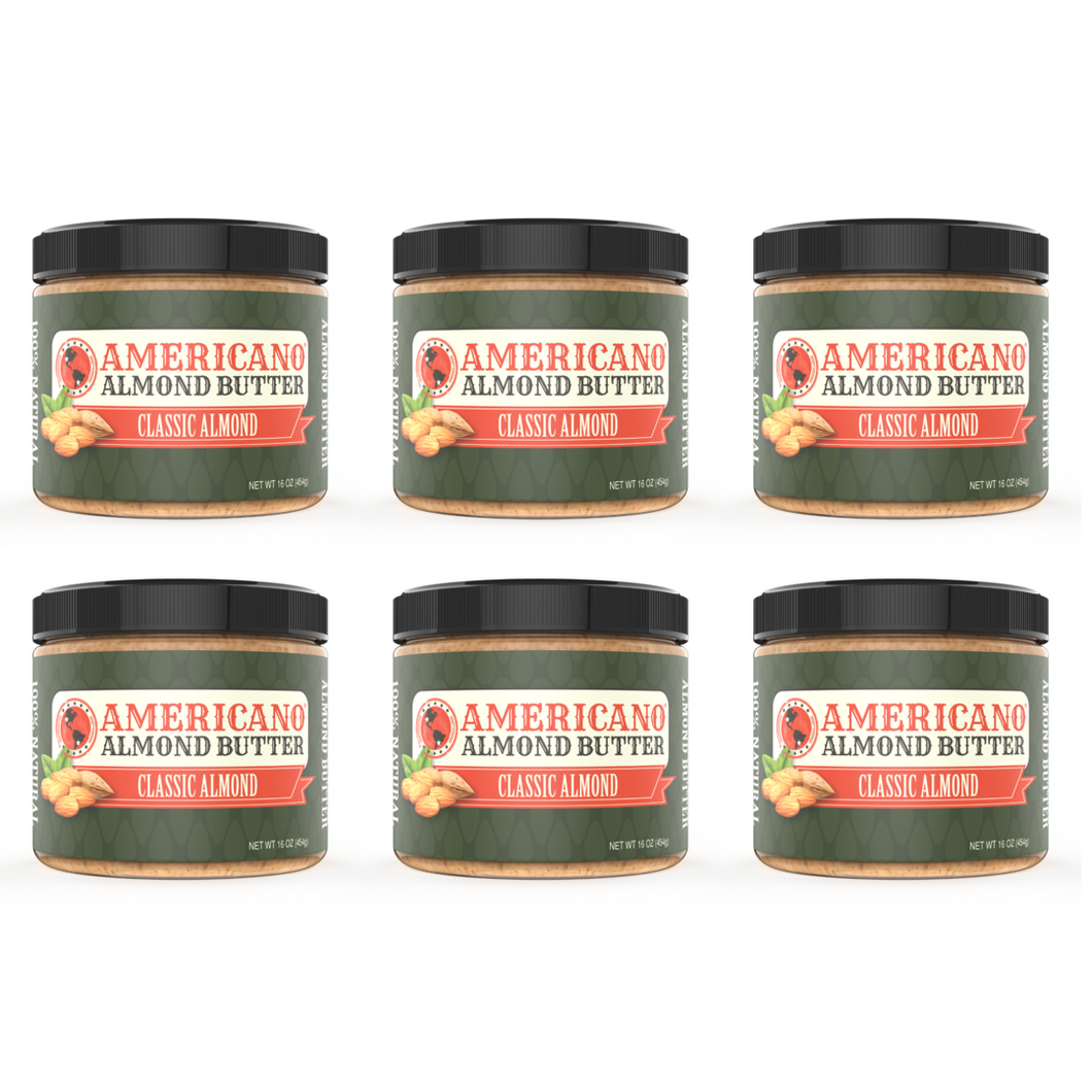 6 Pack Classic Almond Butter (6lbs)