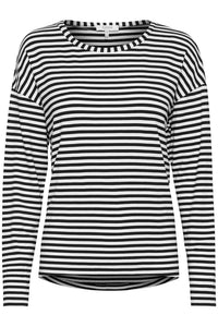 Long sleeve stripey T shirt