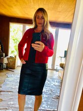 Load image into Gallery viewer, Pleather pencil skirt