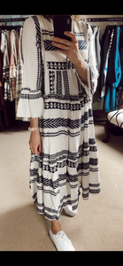 Aztec maxi dress - Black