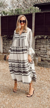 Load image into Gallery viewer, Aztec maxi dress - Black