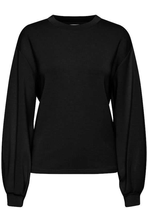 Black silky sweatshirt