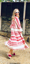 Load image into Gallery viewer, Aztec maxi dress - Red