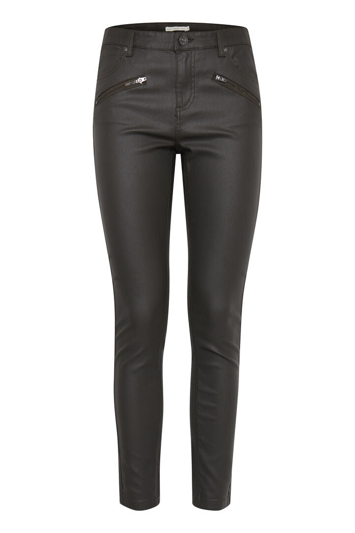 Coated Jeans - black