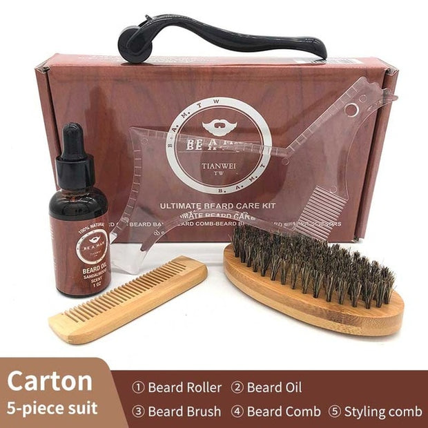 4 Pcs/Set Beard Growth Kit