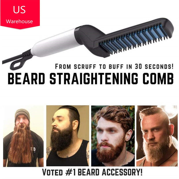 Men Beard Straightener - US PLUG