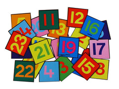 1-24 Number Tiles - colourful tiles with anti-slip base