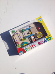 Activities Board - wooden toy for young children