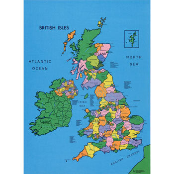 Political British Isles Map Multisensory Biz
