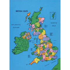 British Isles Map Mat