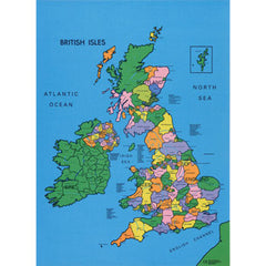 Political British Isles Map - shows all the counties of the UK
