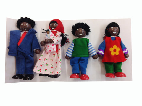Black Family Dolls set