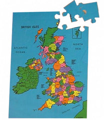 British Isles Map Puzzle - a jigsaw of Great Britain