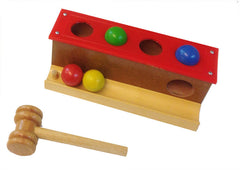 Coloured Hammer Balls - knock the ball through the hole.