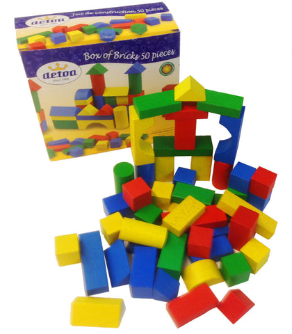 Coloured Wooden Playbricks