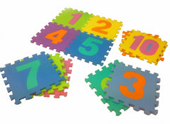 Large Foam Number Tiles set - a useful way to teach number recognition.