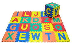 Large Upper Case Foam Alphabet Tiles set - a colourful useful way of teaching alphabet recognition.