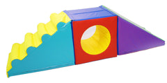 Soft Play Steps, Slide and Cube Tunnel set - Multisensory.biz - 1