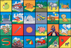 Alphabet Picture Mat - The Alphabet in bright colourful picture form.