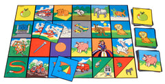 Alphabet Picture Tiles - The Alphabet in bright pictorial from on felt anti-slip tiles