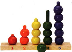 Ball Stair - colourful wooden aid for teaching numbers.
