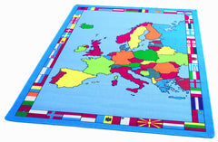 Europe Map Rug - a colourful political map of Europe.
