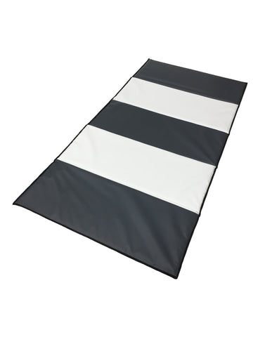 Grey & White Folding Mat