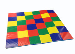 Anti-Slip Multi-Coloured Square Mat - a great mat for reading corners.