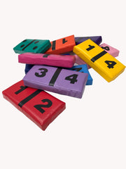 Multi-coloured Softplay Dominoes set
