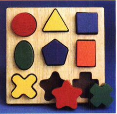 Nine Shape Sorter - match the right shape to the right hole.
