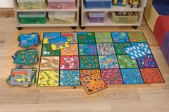 Picture Counting Tiles - teaching the alphabet through images