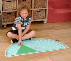 Protractor Playmat - helps teach the importance of angles