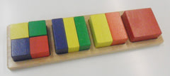 Square Fraction Blocks - Multisensory.biz