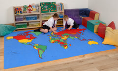 World Map Rug - Multisensory.biz - 1