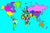 World Map Rug - Multisensory.biz - 2