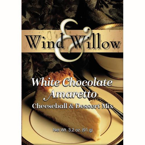 Wind & Willow White Chocolate Amaretto Cheeseball and Dessert Mix