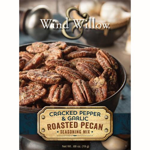 Wind & Willow Cracked Pepper & Garlic Roasted Pecan Seasoning Mix