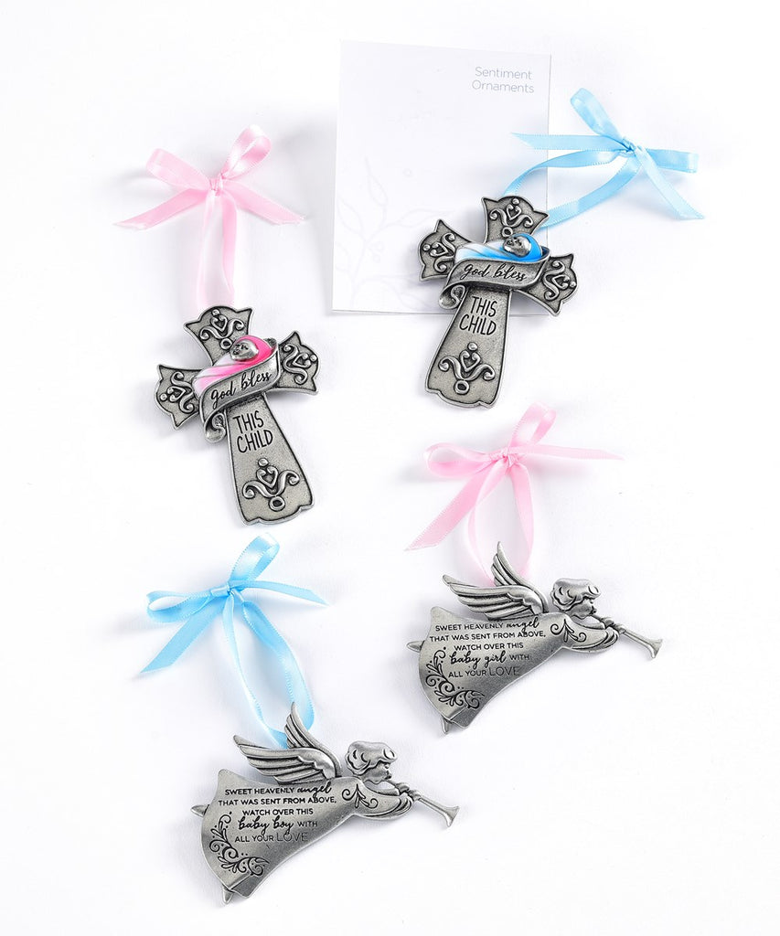 God Bless This Day Sentiment Ornaments