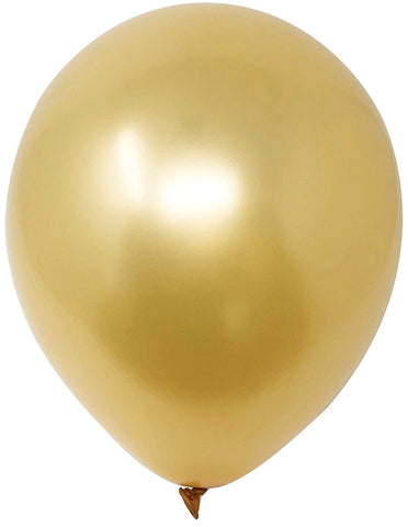 "12"" Inch Helium Latex Balloon - Gold"