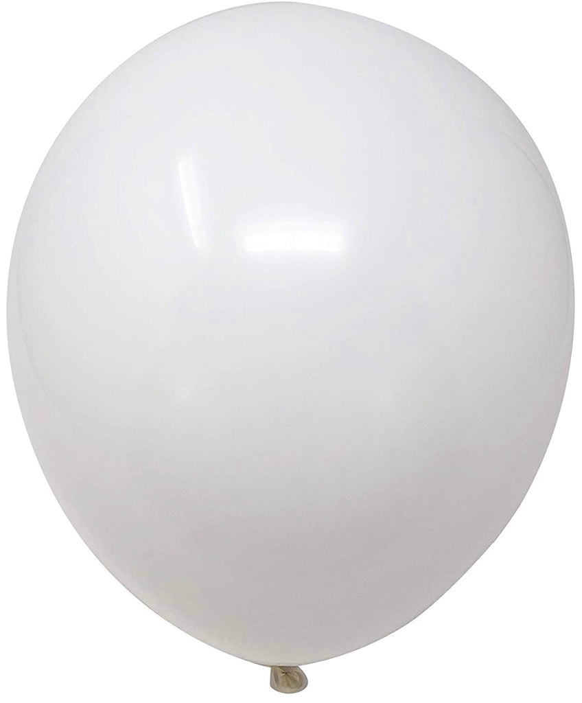 "12"" Inch Helium Latex Balloon - White"