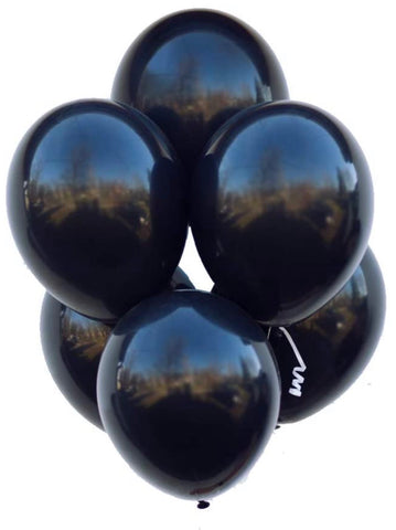"12"" Inch Helium Latex Balloon - Black"