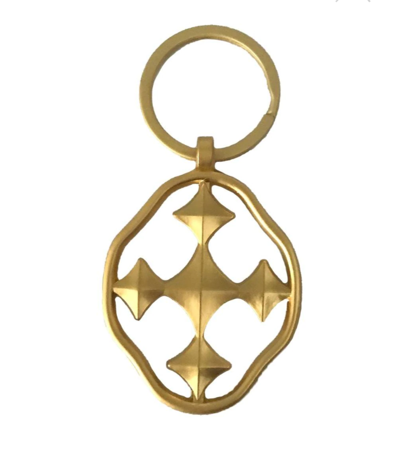 "Gracewear 2"" HOPE Key Chain - matte Gold"