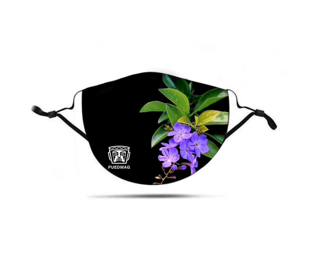 Purple Flowers I Mask by Tina - Puedmag Inkpire