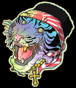 Hippie Tiger by Storbo - Puedmag Inkpire