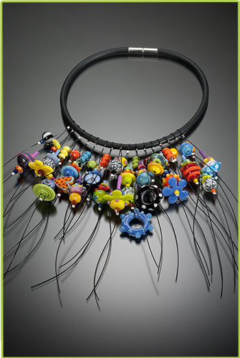 Custom Lampwork Bead Necklace