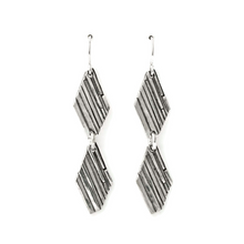 Load image into Gallery viewer, Fused silver earrings by Jen Lesea Designs